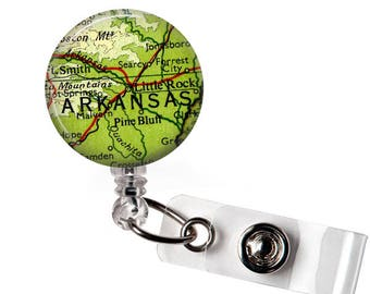 Arkansas Badge Reel, Teacher id badge, Badge gift,Rn badge reel, Retractable, Nurse gift, Custom nurse badge, Student nurse, Nursing student