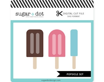 Popsicle Set Cut File , .SVG file, Digital Cut File, Personal/Limited Commercial Use
