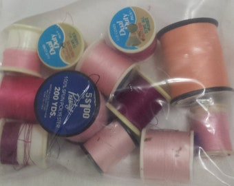 VINTAGE Thread - Pink - Various Shades and Amounts - Craft Supplies DIY Decoration Gift