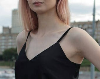 Silk Top/ Silk Blouse (Black)