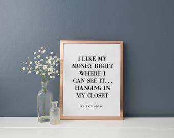 Carrie Bradshaw fashion print