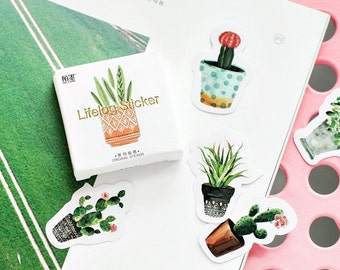 45 Pieces Potted Plants Stickers