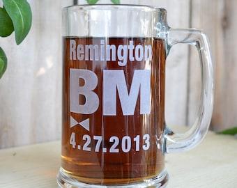 Best man beer mug - personalized engraved by sjEngraving