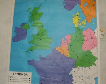 vintage school pull of Europe by van Goors