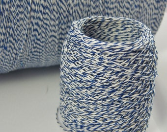 Bakers Twine - Royal Blue and White Bakers Twine (or your choice) - 5, 10, 15, 25, 50, 75 or 100 yards - Thin 3-ply Selections