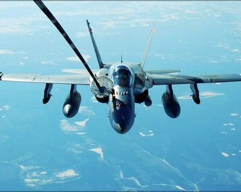 Poster, Many Sizes Available; Royal Australian Air Force Fa-18 F-18 Hornet Refuels From Kc-10