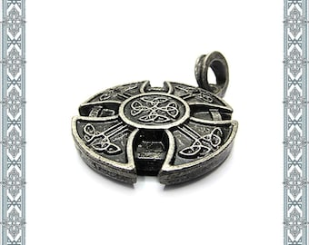Chain Pendant Cross of the Celts old silver pendant celts-Jewelry Germanic Jewelry Medallion Amulet Nordic Jewelry Historical Jewelry