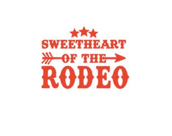 Sweetheart Of The Rodeo Ready to Press Sublimation Transfer
