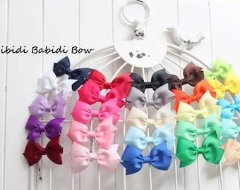 Mini hair bows - set of 16 - baby girl hair bows -  Birthday gift - 1.00 hair bows -infant hair bows - You can choose colors