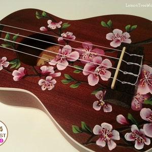 YOUR Soprano Ukulele Handpainted with Cherry Blossoms (Ukulele not included)