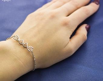 DNA Bracelet-Scence Jewellery-Medical Jewellery-Science Bracelet-Chromosome Bracelet-Bilology Bracelet-Nurse Gift-Doctor Gift-DNA Gift