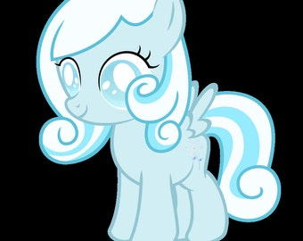 Snowdrop Plushie- Silly Filly Pony - mlp fim Brony, Pegasister, Collectable, Cuddle, Birthday, Christmas, Party, Occasion,