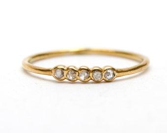 Teeny Tiny Diamond Stacking Ring
