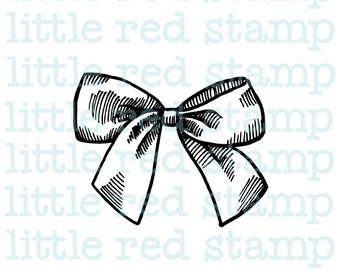 Ribbon Bow Digital Stamp Instant Download PDF JPG Printable Illustration Art Drawing Scrapbooking Digistamp