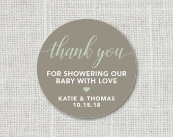 Baby Shower Stickers, Thank You Baby Party Stickers, Baby Shower Stickers For Favors, Baby Party Labels Thank You For Showering Our Baby