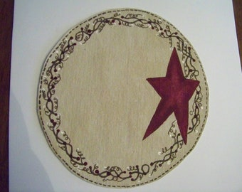 Primitive Candle Mat