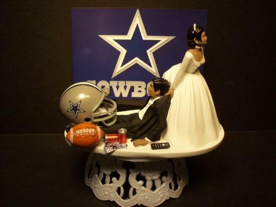 Dallas Cowboys Football Bride And Groom African American Or
