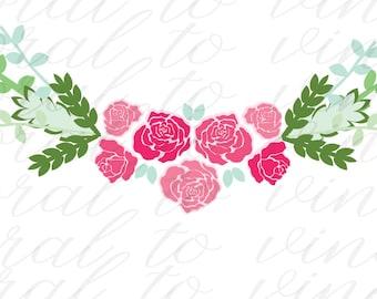Flower SVG, roses SVG, floral svg, spring floral SVG, floral rose svg, rose svg, floral dxf, flowers svg, flower dxf, rose flower svg, dxf