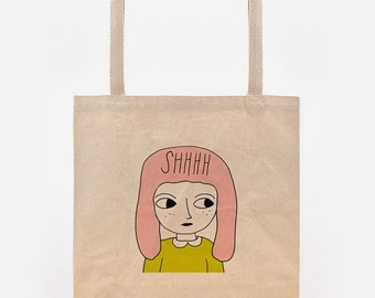 canvas tote bag - illustrated canvas bag - tote bag