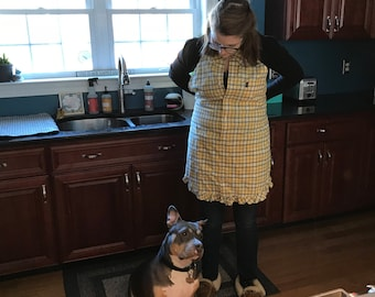 Recycled shirt apron free shipping in U.S.