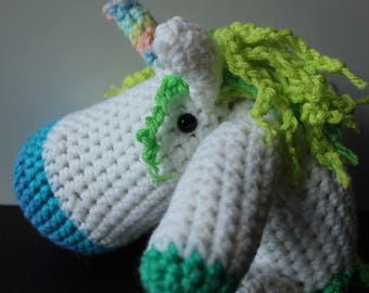 Floppy unicorn-bright blue and green