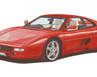 LIMITED EDITION Print Ferrari 355 Berlinetta from an original painting by Malcolm Davies