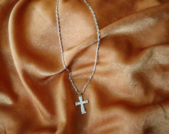 Feelin' Free Cross Necklace - Cross Necklace - Gold Filled Necklace - Rosary Necklace
