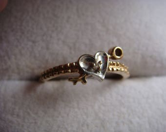 Arrow thru Heart Ring 10k