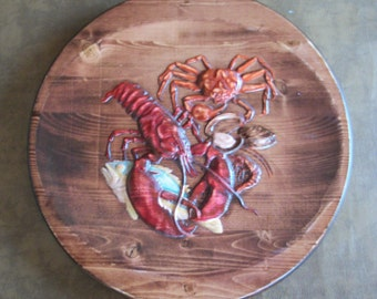 Seafood wall decor, Lobster, Crab