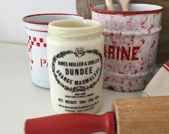 Vintage Rolling Pin - Kitchenalia - Kitchen Decor - Vintage Kitchen - Red Painted Rolling Pin - Vintage Bake Off -