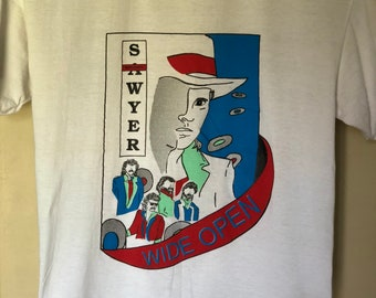 Rare Vintage 1988 Sawyer Brown Wide Open Tour T-Shirt
