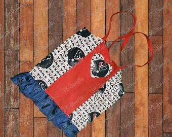 Corset top for child, Houston Texans outfit