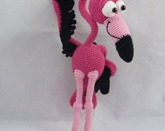 Amigurumi Crochet Pattern - Fernando el Flamenco - English Version