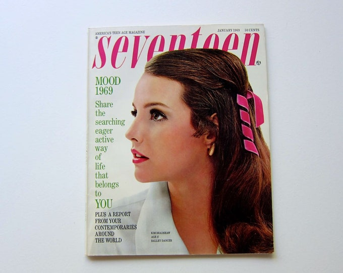 Vintage Seventeen Magazine : January 1969 | Womens Girls Vintage Winter Fashion Decor Style Mod Hippie 60s 70s Clothing Collectible Magazine