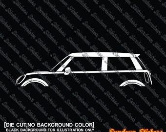 2X Car Silhouette Stickers   For BMW Mini Cooper R56