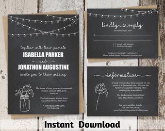 Wedding Invitations Instant Invitation