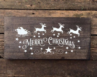Rustic Christmas Signs