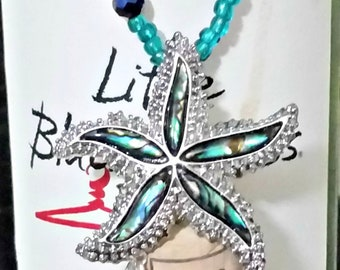 Wine Bottle Charms ~ Starfish / Wine Cork Bottle Charms ~ Under the Sea