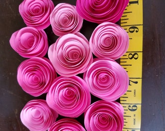 Custom elegant paper roses made to order within days! Perfect for bridal baby showers birthdays gifts bouquets wall drops decorations
