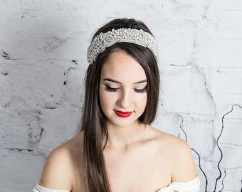 Crystal Headband for Bride,  Boho Head Chain, Forehead Band Hair Accessory, Bohemian Hair Jewlery