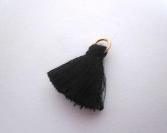 Large tassel Black 2.5 cm