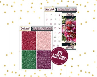 Floral Love Affair // Kit ADD ONS-Stickers for the EC Happy Planner Life planner