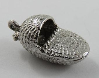 Baby Moses Basket Mechanical Sterling Silver Vintage Charm For Bracelet