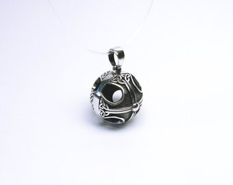 Triquetra Triquetta Ball Pendant silver 925 Celtic trinity three knot Celtic knot Triquetra