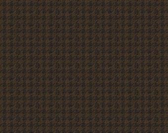 Riley Blake (Penny Rose) Designs Menswear Houndstooth Flannel Brown F4792-BRO
