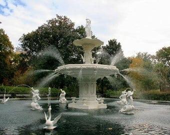 The Forsyth Park Fountain In Savannah, Georgia   11 X 14