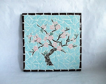 """Small mosaic table """"cherry"""""""