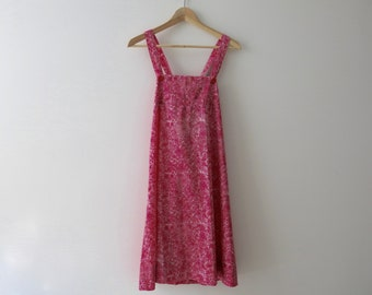 VINTAGE LIBERTY DRESS - Pink summer dress with a floral pattern from the 70's