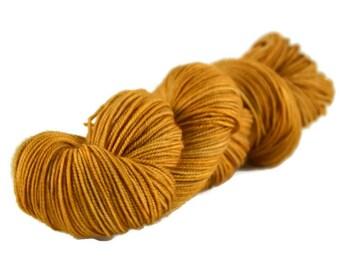 Sport Yarn, Merino yarn, sport weight yarn, superwash wool yarn, 100% Superwash Merino, yellow, gold, merino sport - Sunflower