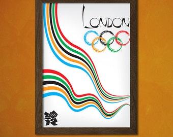 London Olympic Games - London Print Vintage Sport Poster Olympic Game Poster London Poster Gift Idea Travel Decor